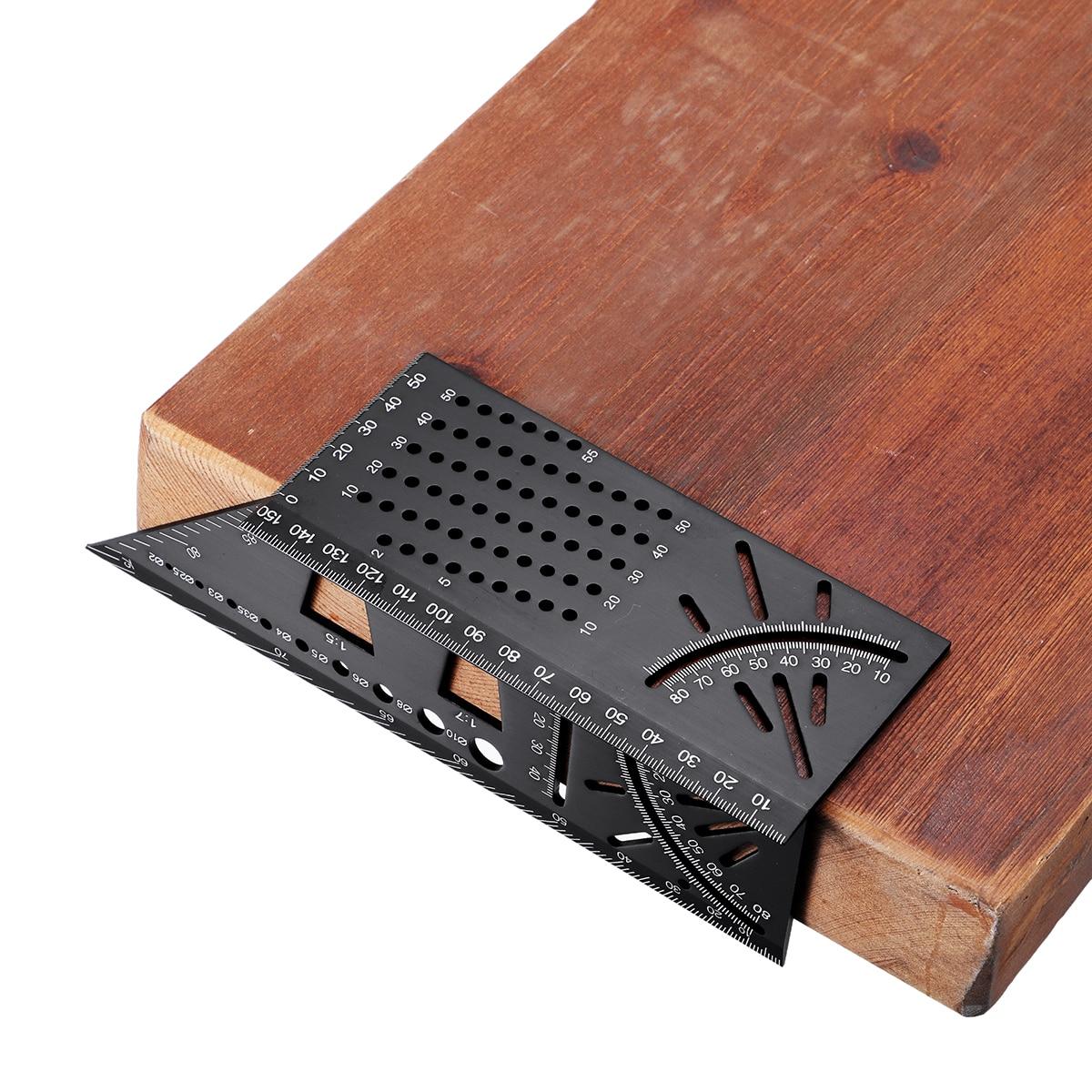 Aluminium Legierung 3D Gehrung Winkel Mess Platz 45 90 Grad Winkel Lineal Satzzeichen Kennzeichnung Gauge Framing Winkelmesser Holzbearbeitung