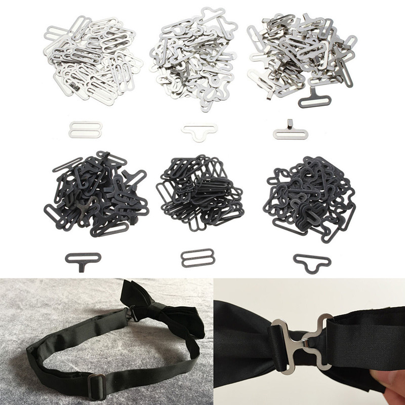 20/50Pcs Bow Tie Hardware Necktie Hook Bow Tie Or Cravat Clips Fasteners To Make Adjustable Straps On Bow Tie Dip