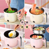 220V Multifunctional Electric Cooker Heating Pan Electric Cooking Pot Machine Hotpot Noodles Rice Eggs Soup double Steamer Appliances Consumer Electronics