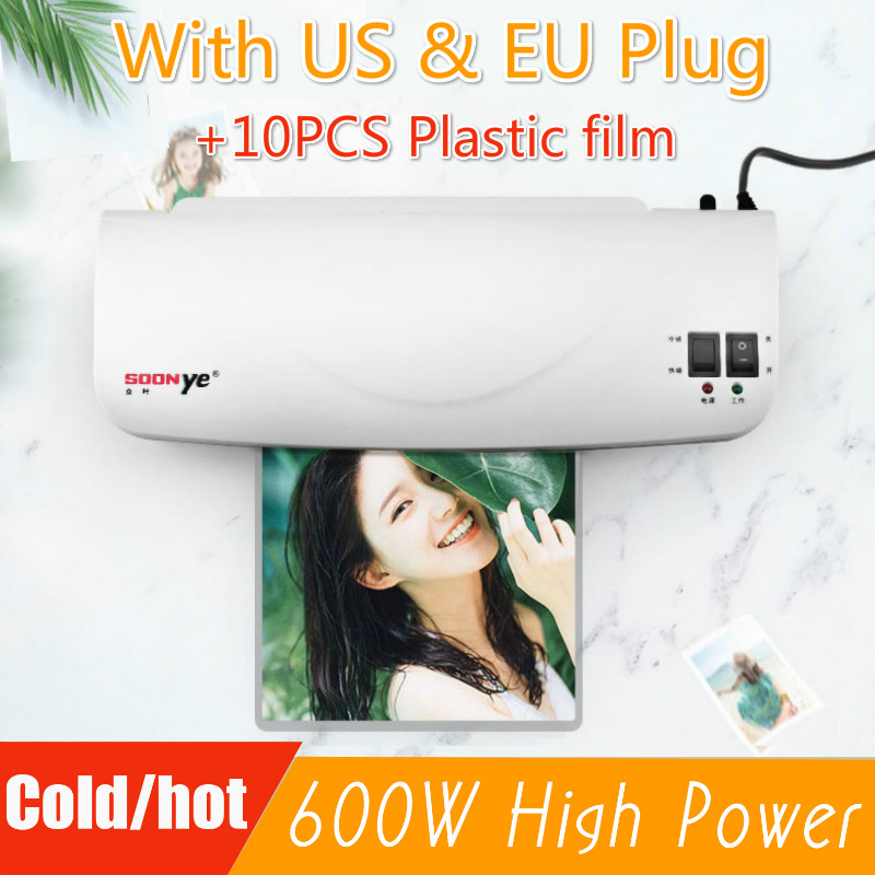 Professionele Thermische Office Hot En Koude Laminator Machine Voor A4 Document Photo Blister Verpakking Plastic Film Roll Laminator