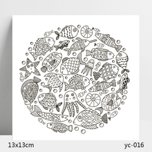 AZSG Marine organism Clear Stamps/Silicone Transparent Seals for DIY scrapbooking Card Making 13*13cm