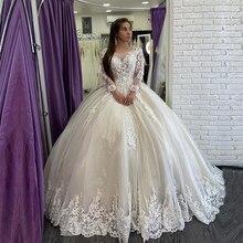 Настоящее фото бальное платье роскошное свадебное платье-бохо Дубай Afirca дешевые свадебные платья на шнуровке свадебные платья