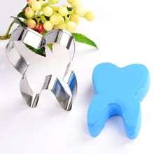 New 3D Tooth Shape Cookie Cutter Stainless Steel Biscuit Tools Baking Cookies Molds Kitchen Cake Decorating Bakeware Cake Tools