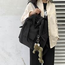Backpack Bag Fashion Waterproof Black Girl Female Women Teenager for School Laptop Teen