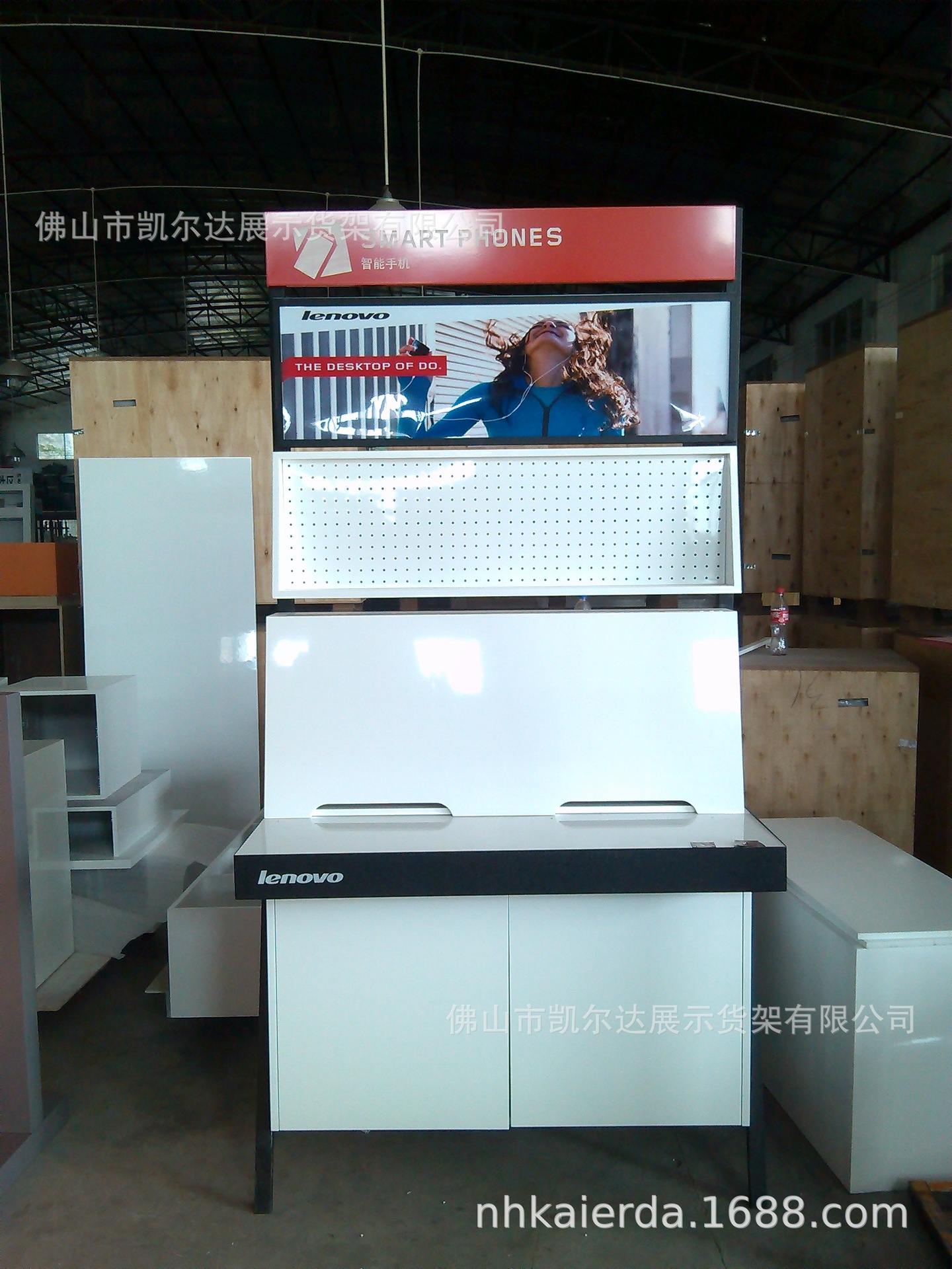 Foshan City In Chest Freezer Cabinet Lenovo Computer Display Cabinet Optimized Showcase Feature Wall In Island Rack
