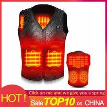 Горячее предложение! Распродажа! Теплый жилет для мужчин и женщин, наружная USB Инфракрасная Куртка Для Путешествий, Походов, зимний гибкий электрический тепловой жилет