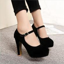 Женские замшевые туфли лодочки на высоком каблуке 12 см привлекательные