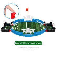 цена Mini Table Top Football Board Game Set Indoor Game Table Football Kids Favor Child Soccer Tables Double Player настольный футбол онлайн в 2017 году