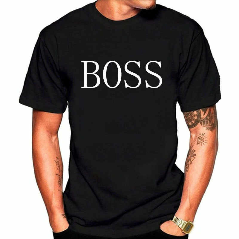 2019 新ファッションヨーロッパ/アメリカのプリント Boss ラウンド襟 Tシャツルーズ綿半袖ユニセックス Tシャツ原宿 Tシャツトップス