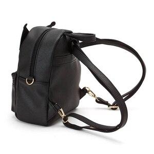 Image 2 - Śliczna moja melodia Cinnamoroll Kuromi skórzana torba na ramię mała plecak Crossbody torby dla kobiet dziewczynki torba ze sznurkiem