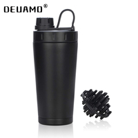 Logo Custom Protein Shaker Bottle Stainless Steel Water Cup Double Wall Vacuum Insulated Bottle Leak Proof Sport Drinkware 20oz