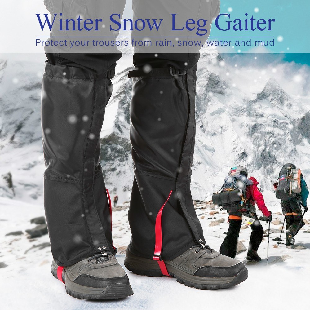 Outdoor Hiking Gaiters Outdoor Waterproof Walking Mountain Hunting Trekking Desert Men and Women Snow Legging Gaiters|  -