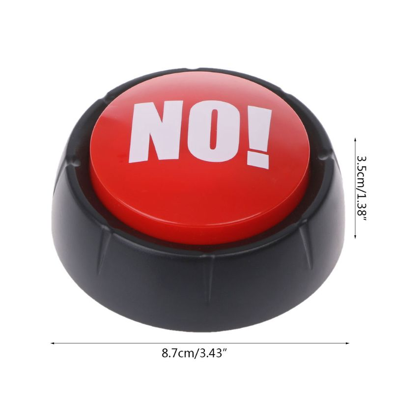 Novelty Big Red NO Button No Sound Button Desktop Sound Toy Great For Parents Co-Workers Gag Joke Q6PD