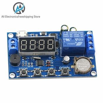 цена на DC 5V Real time Timing Delay Timer Relay Module Switch Control Clock Synchronization Multiple mode control Wiring diagram