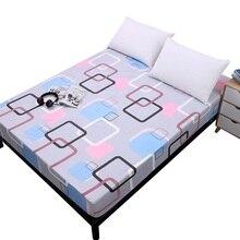 Простой чистый узор печать матовый простыня наматрасник с эластичной лентой мягкое постельное белье домашний текстиль