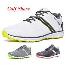 New Men Golf Shoes Waterproof Spikeless/Non-slip Golf Sneakers Lightweight Sport Trainers