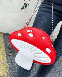 Image 4 - น่ารักเห็ดสีแดงPuหนังแฟชั่นผู้หญิงกระเป๋าถือไหล่Crossbodyกระเป๋าผู้หญิงคลัทช์กระเป๋าToteกระเป๋า