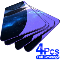 Protector de cristal templado para Xiaomi Redmi Note 10, 8, 7, 9s, 9 Pro Max, Redmi 9, Poco X3, NFC Pro, 4 Uds.