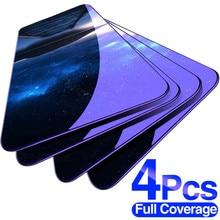 Protector de cristal templado para Xiaomi Redmi Note 10, 8, 7, 9s, 9 Pro Max, Redmi 9, Poco X3, NFC, M3, 4 Uds.