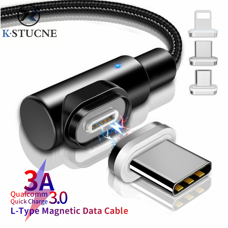 3A USB Type C Magnetic Cable For Xiaomi Redmi Note 7 Fast Charging Data Sync Cord For Samsung Galaxy S9 S8 Note 9 Type-C Cables