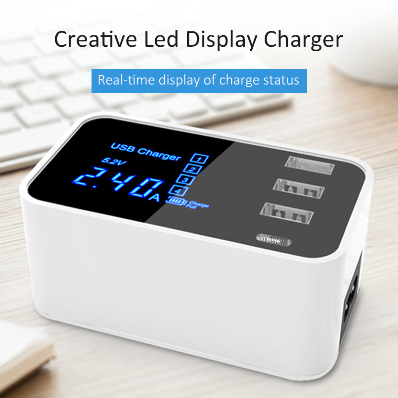 Image 3 - Quick Charge Type C USB Charger HUB Led Display Wall Charger Fast Mobile Phone Charger USB Adapter EU US UK Plug For iPhone X XS-in Mobile Phone Chargers from Cellphones & Telecommunications