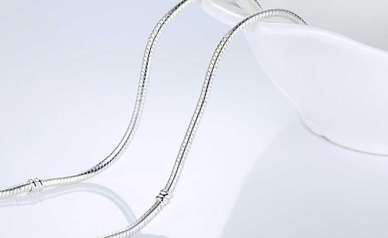 Большая промакция! Изысканное ювелирное изделие, оригинал 925, Твердое Серебро, 3 мм, ожерелье в виде змеи, подходит для подвески, бусины, подвески, цепочка, совместимая с ювелирными изделиями DIY