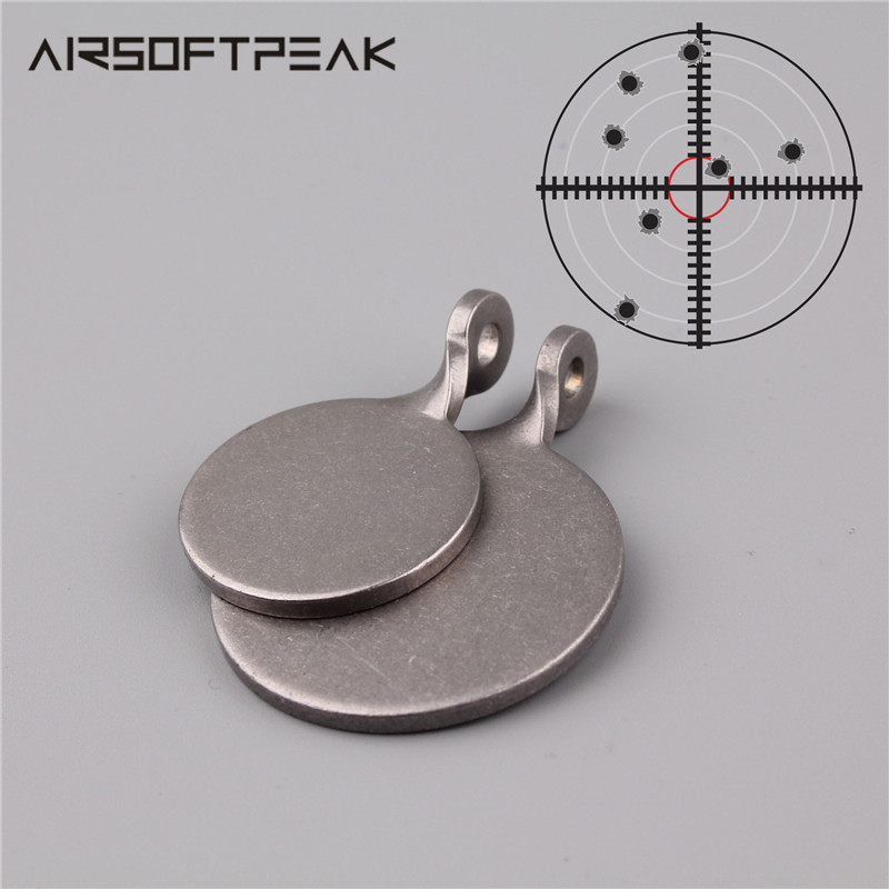 5Pcs/ Lot Shooting Target 3cm/ 4cm Diameter Stainless Steel Round Bullseye Aim For Gun Hunting Accessories Paintball Slingshot