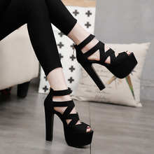 2020Spring Summer 15CM Fashion Thick With Sandals Fish Mouth Shoes