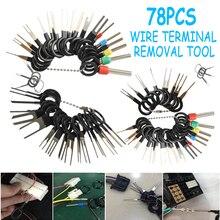 39/78 adet araba terminali temizleme kiti kablo kıvrım bağlayıcı Pin Extractor çektirme utomotive fiş terminali kaldırmak onarım aksesuarları