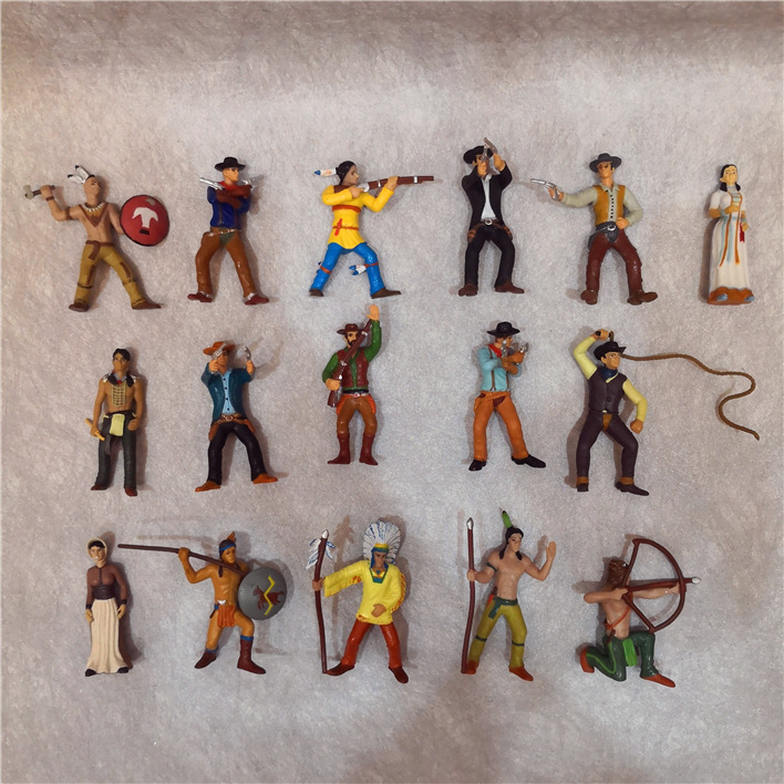 10pcs west cowboy anime action figure perfect quality PVC figurine The indians cartoon doll toys for children image