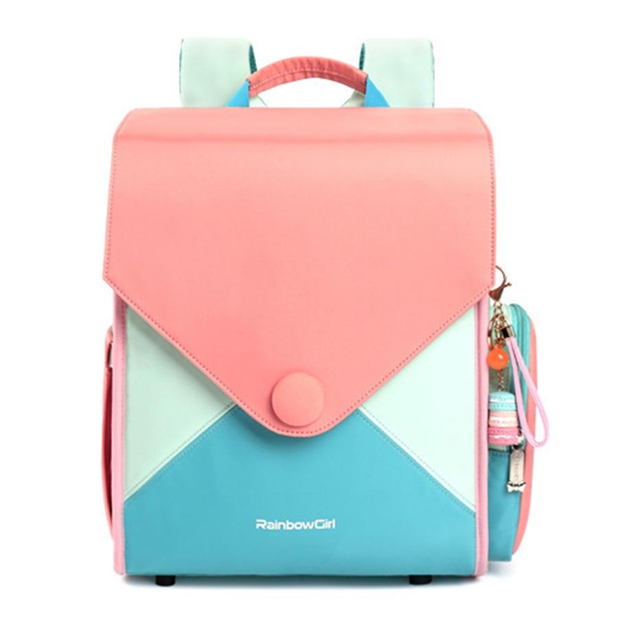 Школьные сумки Sweet Macarons для девочек 1 4 класса, рюкзак для девочек начальной школы, портфель для ортопедических сумок карамельных цветов|Школьные ранцы| | АлиЭкспресс