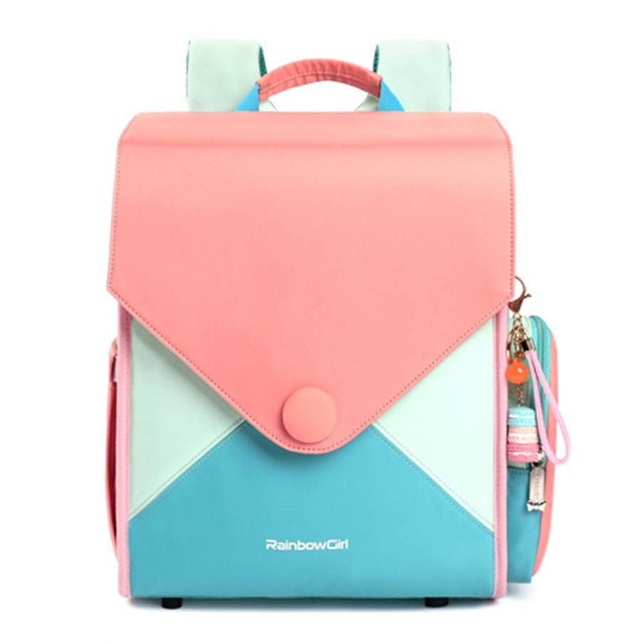 Sweet Macarons Girls School Bags For Grade 1-4 Girls Primary School Children Backpack Candy Color Orthopedic Satchels Portfolio