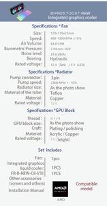 Image 5 - BYKSKI GPU Water Block for NVIDIA GeForce RTX 2080Ti/2080 Founders Edition With 240mm Radiator / PUMP / 2pcs Fan A RGB LED Light