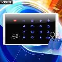KERUI-Sistema de Control de Acceso antirrobo inalámbrico, 433MHz, RFID, contraseña táctil, bloqueo de seguridad