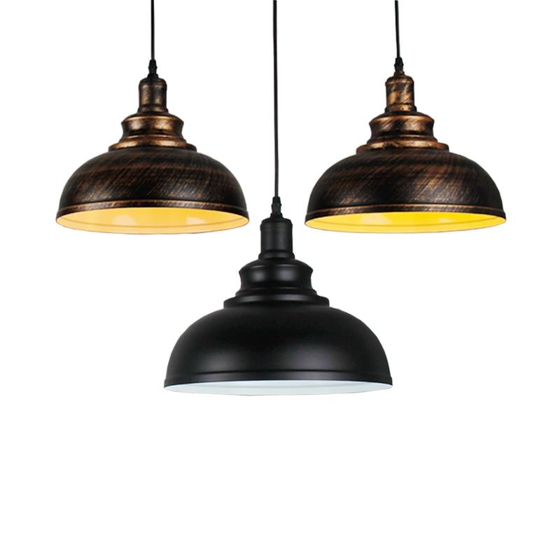 Vintage Loft Retro Lamp Bar Kitchen Office Study Dining Room Cafe Restaurant Pub Chandelier Hanging Lamp Headlight Pendant Lamp