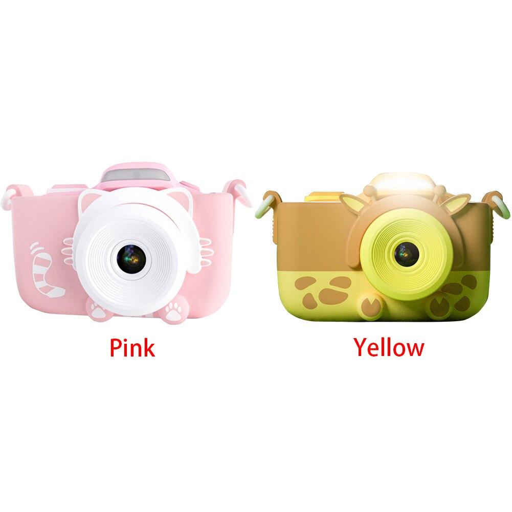 Caméra numérique enfants caméscope Mini vidéo avec coque en silicone cadeaux voyage Anti secousse haute définition jouets portables Selfie - 4