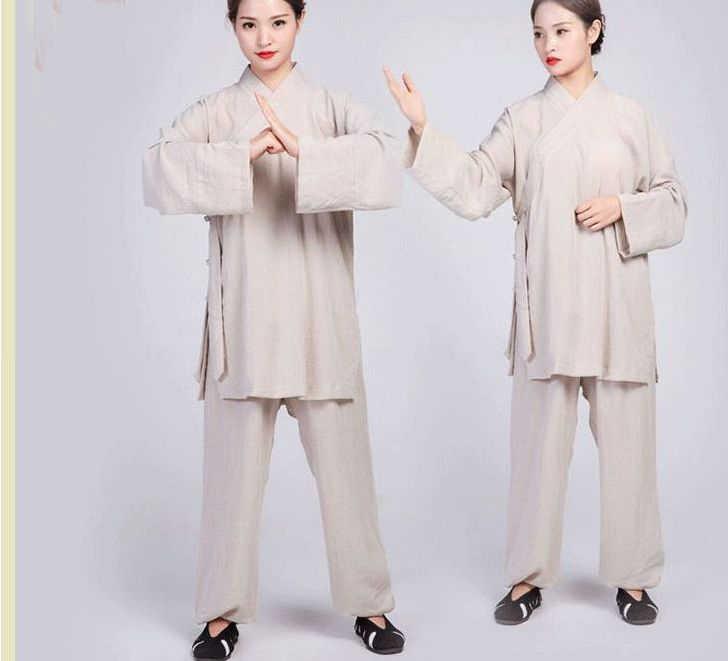 16 צבעים אישית יוניסקס Wudang פשתן מדים טאי צ 'י hanfu בגדי סטי הטאואיסטית טאואיזם חליפות כהה ירוק/כחול
