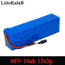 Liitokala e bike bateria 48v 10ah 18650 li ion bateria kit de conversão de bicicleta bafang 1000w 54.6v