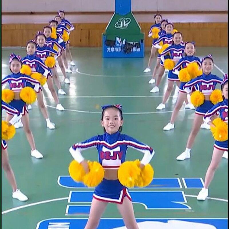 Kids' Cheerleader Clothes Children's Lara Jersey Students' Aerobics Dance Clothing Girls Performance Clothes