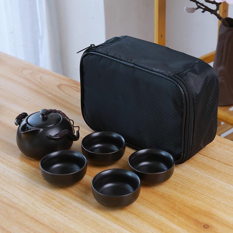 Ceramic teapot kettle gaiwan Chinese Travel Ceramic tea cup for puer chinese tea pot portable tea set drinkware Free shipping 7