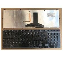 Novo para toshiba satellite p750 p750d p755 p755d teclado espanhol quadro backlit sp espanhol
