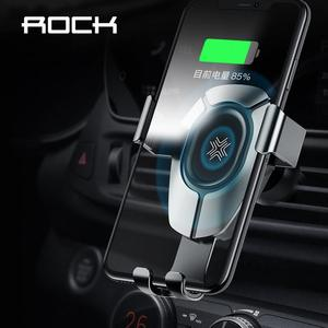 Image 1 - ROCK 15W Fast Wireless Charging Gravity Car Mount for iPhone 8 Plus X Xr Xs Max 11 Pro Max Car Holder for Huawei P30 Mate30 Pro