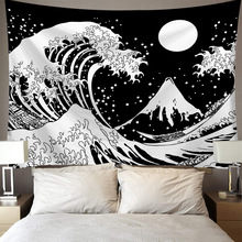 Tapestry Wall Hanging Polyester Moon Star Pattern Tapestry Home Bedroom Decor Wall Hanging Lion Moon Pringting Pattern Blanket waterproof snows and trees pattern christmas wall hanging tapestry page 3