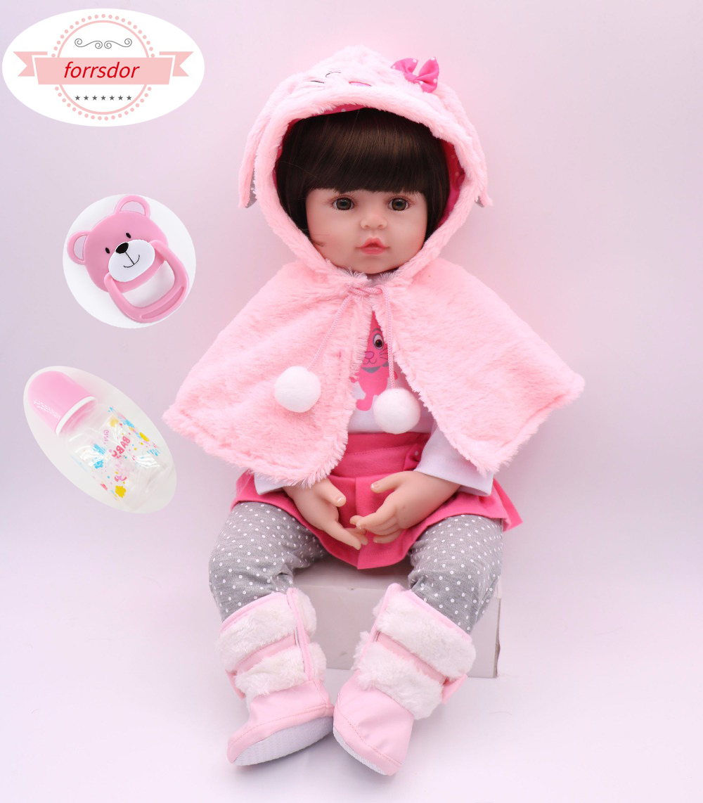42/ 60cm  baby reborn doll Lifelike adorable Baby girl  silicone Bonecas Bebe Reborn baby dolls birthday gift and christmas gift-in Dolls from Toys & Hobbies on AliExpress - 11.11_Double 11_Singles' Day 1