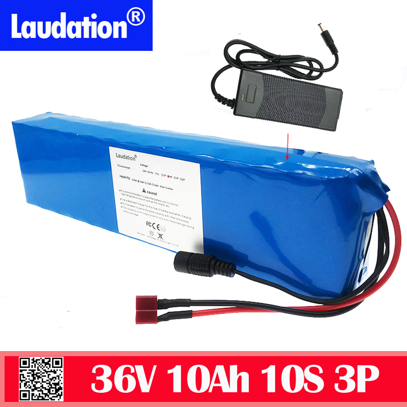 36v battery 10 ah 10s3p <font><b>18650</b></font> pack bms 36v li ion battery for powerful electric bike kick scooter electric free ship+42v charger image