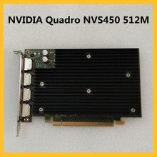 Quadro NVS450 512M Original Graphics Card Professional Graphics For NVIDIA Multi-screen Design 3D Modeling Rendering Card