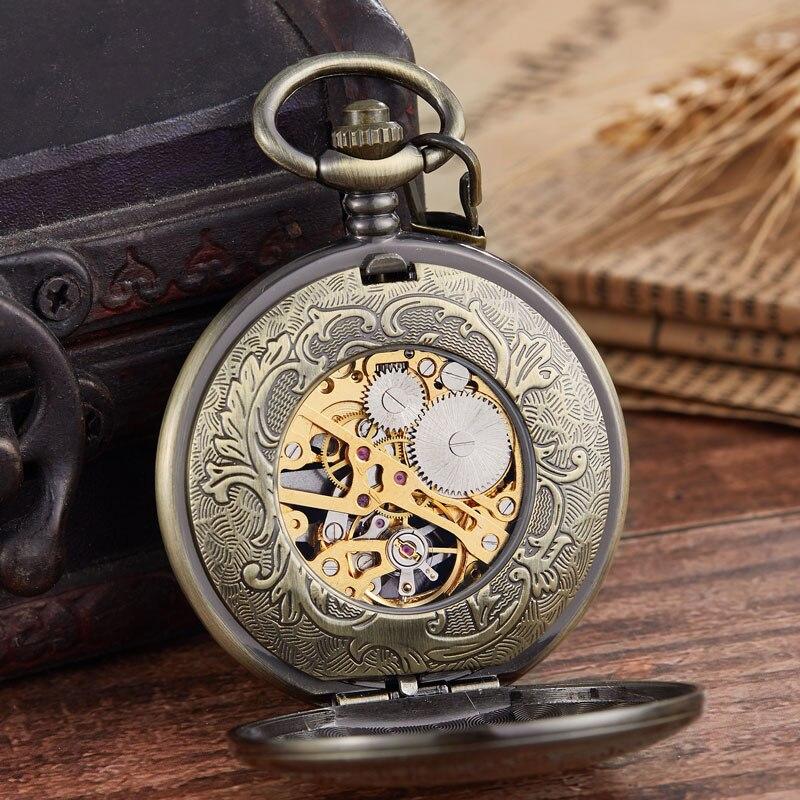 Vintage Pássaro eagel Escultura Relógio de Bolso