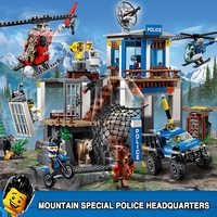 Cidade Compatível legoinset 60174 blocos de construção de tijolos de Montanha Da Sede Da Polícia Velocidade Construir Brinquedos de Presente para As Crianças Crianças