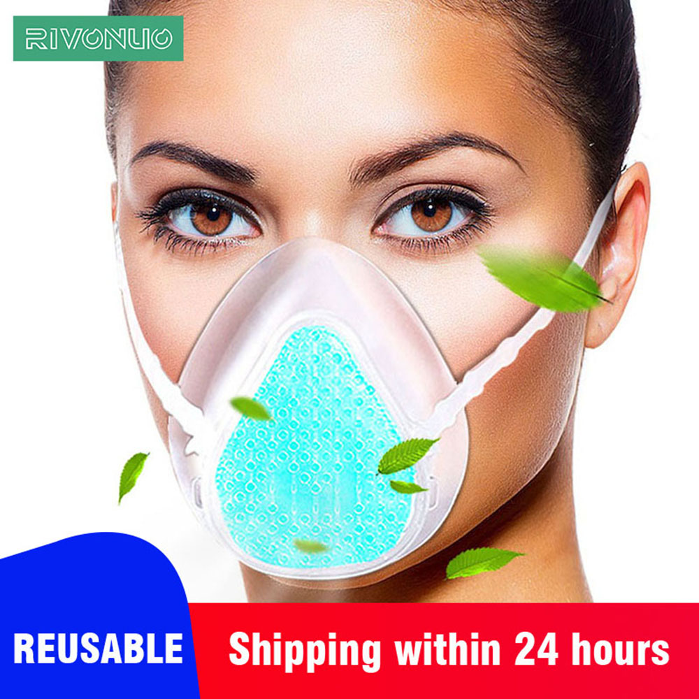 In Stock Washable Reusable Food Grade Silicone Anti Dust Pollution Virus Protection PM2.5 Mask Dust Respiratory N95 Mask