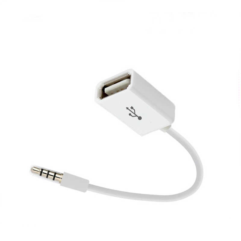 Auto MP3 Sync 3.5mm Male AUX Audio Jack Plug Naar USB 2.0 Female Converter Cable Cord Adapter voor USB accessoires